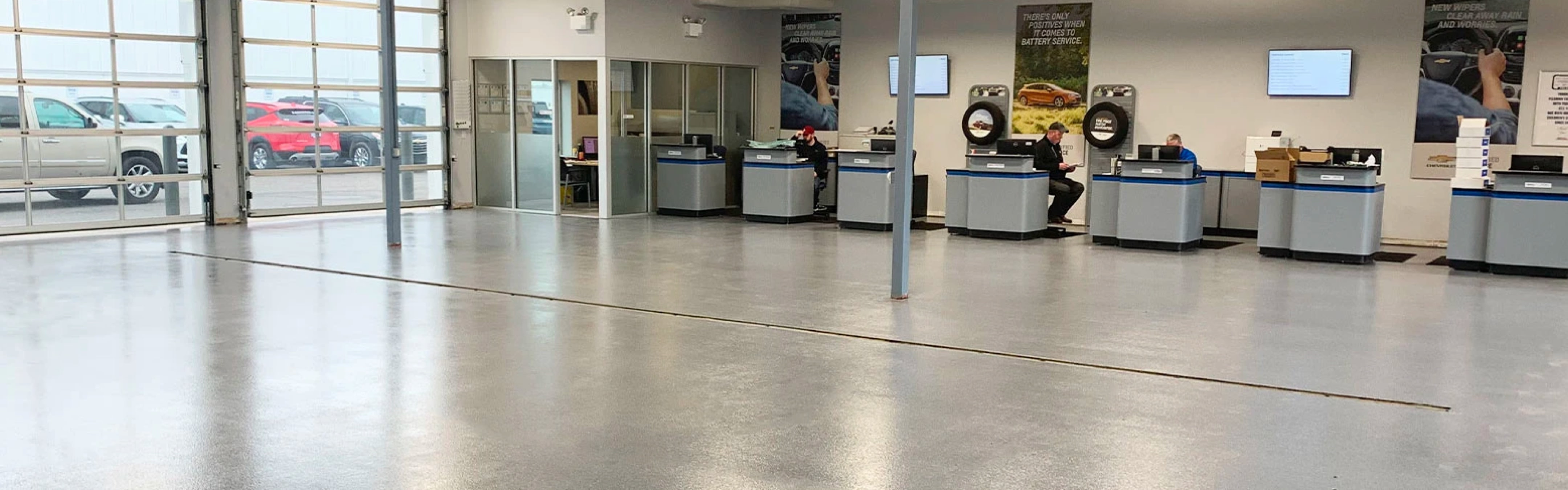 auto dealership flooring